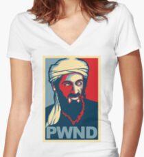 PWND - Osama Bin Laden Women's Fitted V-Neck T-Shirt