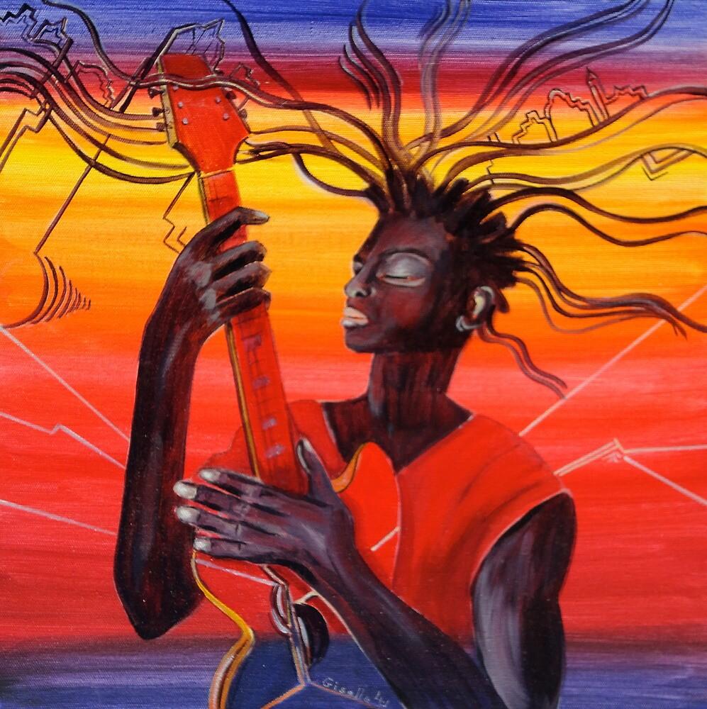 Guitar Men by Giselle Luske