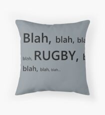 Rugby! Throw Pillow