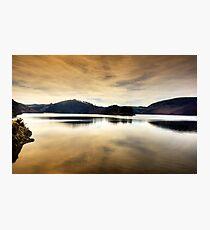 Evening at Llyn Clywedog, Powys, Wales Photographic Print