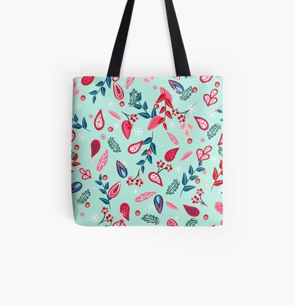 Christmas blossom pattern All Over Print Tote Bag