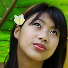 Portrait of a Shan girl, Thailand by John Spies