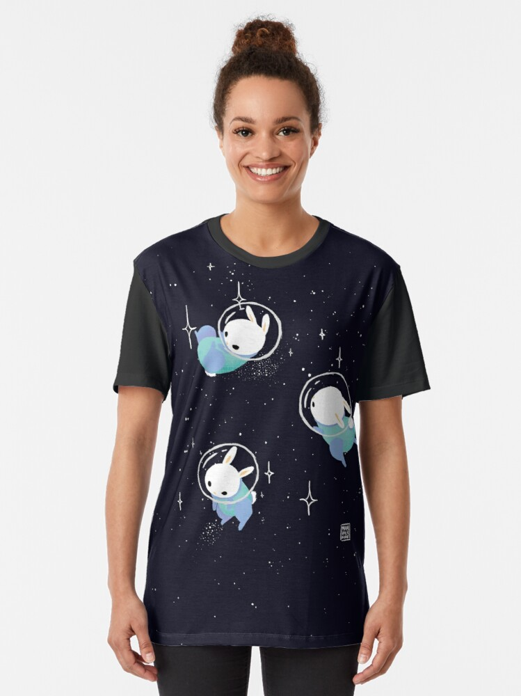 Alternate view of Space Bunnies Graphic T-Shirt