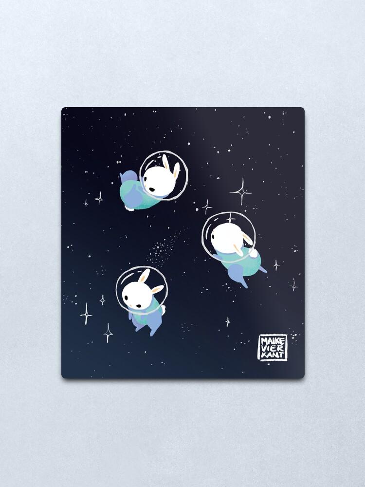 Alternate view of Space Bunnies Metal Print
