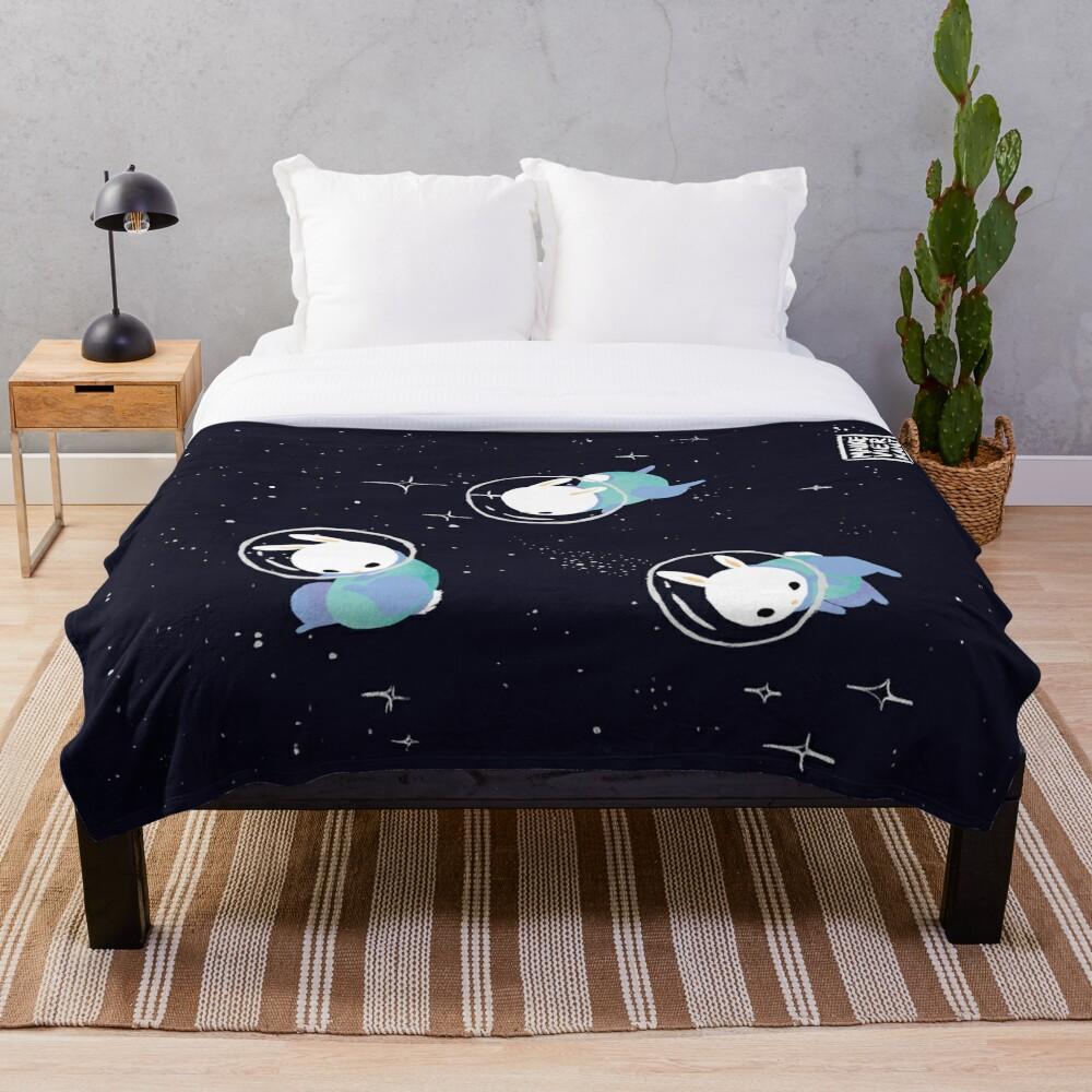 Space Bunnies Throw Blanket