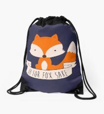 Oh For Fox Sake Drawstring Bag
