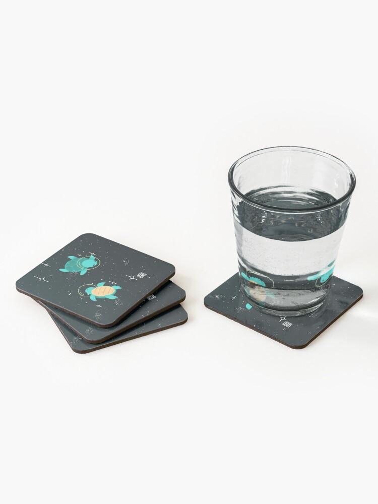 Alternate view of Space Turtles Coasters (Set of 4)