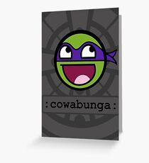 Cowabunga Buddy Squad: Donatello Greeting Card
