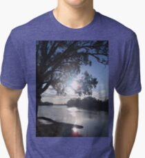 Sunset on the Murray (in Australia) Tri-blend T-Shirt