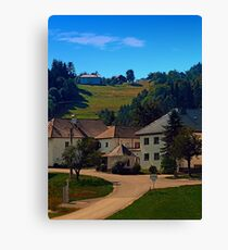 Small village in autumn scenery Canvas Print