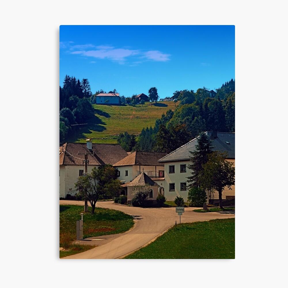 Small village in autumn scenery Canvas Print