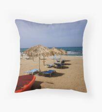 Cretian Beach Throw Pillow