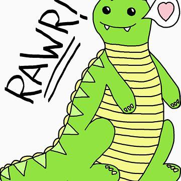 Dinosaurs Go Rawr! by Krydel