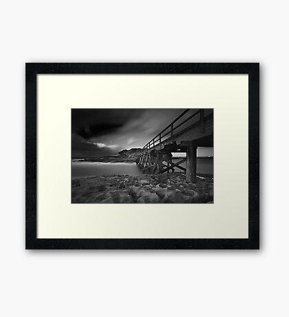 Clouded Bridge Framed Print