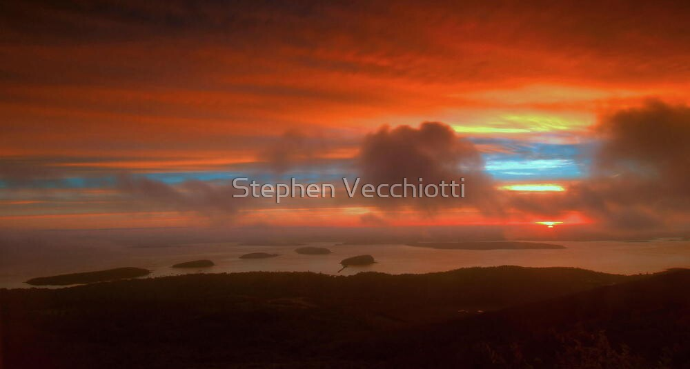 Sunrise From Cadillac Mountain 3 by Stephen Vecchiotti