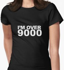 I'm over 9000 white Women's Fitted T-Shirt