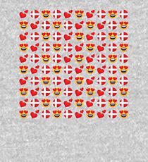 Love Danish Emoji JoyPixels Travel to Denmark Kids Pullover Hoodie