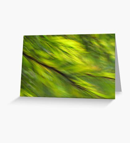 Winter Green Greeting Card