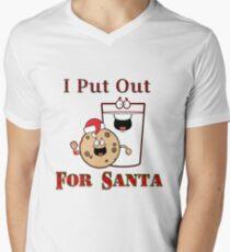 I Put Out for Santa Men's V-Neck T-Shirt