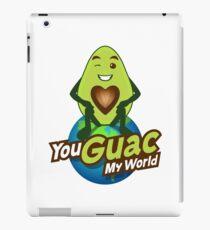 You Guac My World Emoji JoyPixels in Love Avocado saying iPad Case/Skin