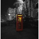 St Paul's Cathedral & Red Phone Box by Peter Tachauer