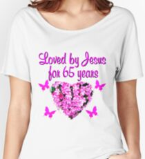 PRETTY PINK WILD FLOWER 65TH BIRTHDAY PHOTO Women's Relaxed Fit T-Shirt