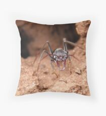 Inch ant on sentry duty - Science Park, Adelaide Throw Pillow