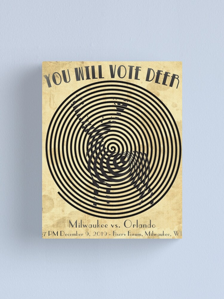Alternate view of You Will Vote Deer Canvas Print