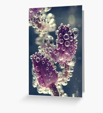 Art of bubbles. Greeting Card