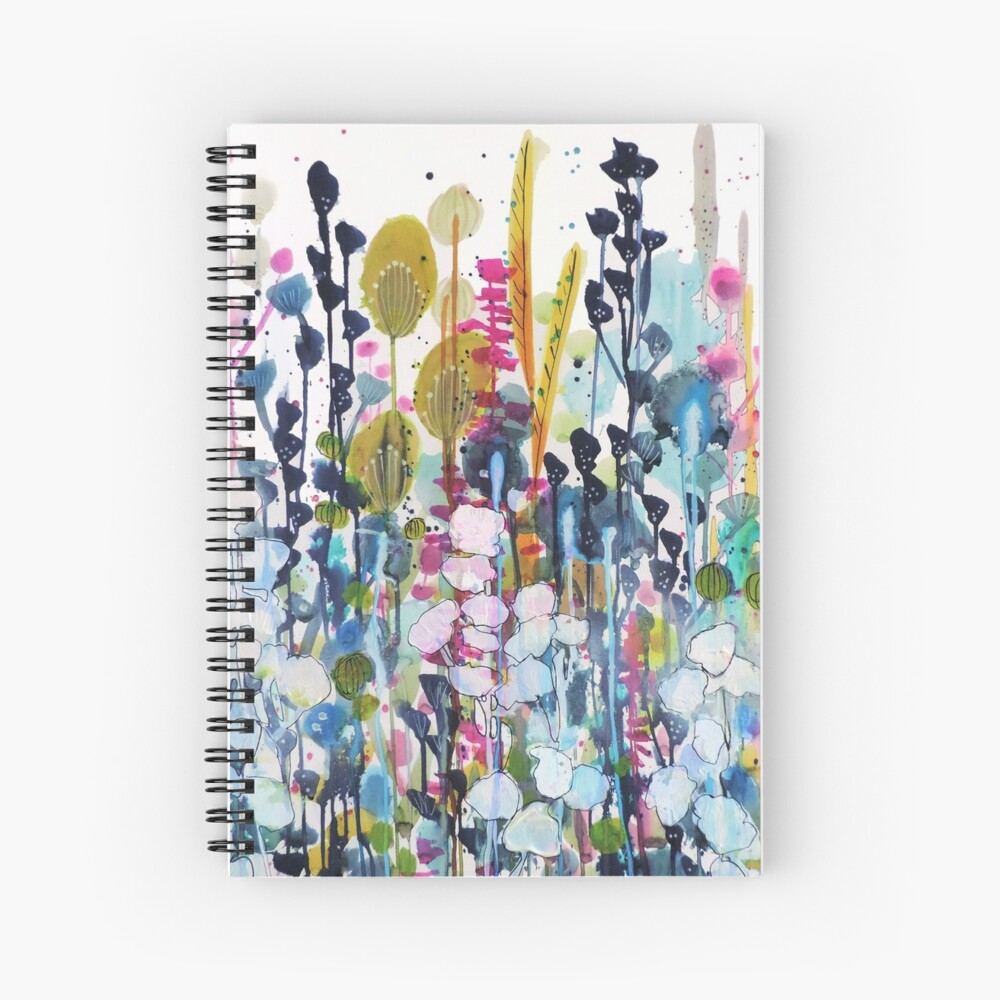 colorful side road Spiral Notebook