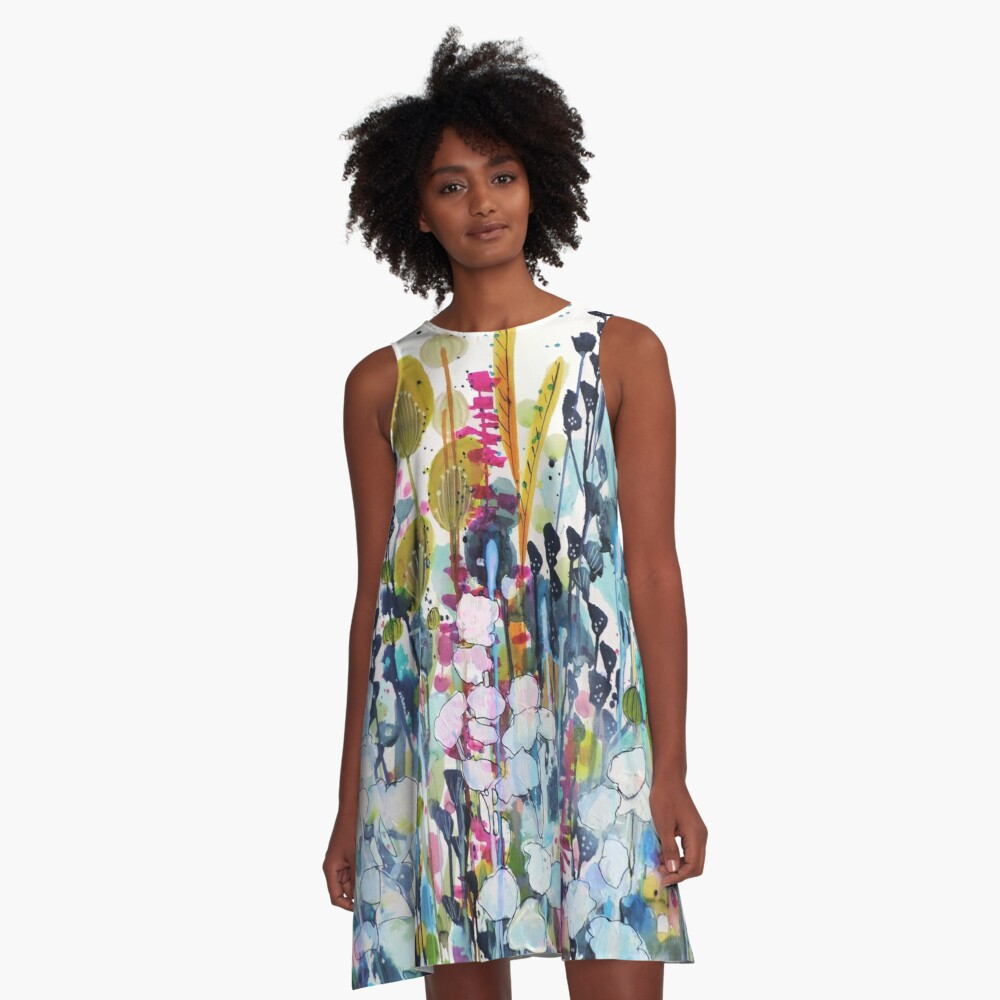 colorful side road A-Line Dress