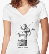 Jean-Luc Ponty Women's Fitted V-Neck T-Shirt