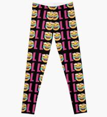 LOL Girls Emoji JoyPixels Funny Laugh Out Loud Leggings