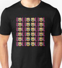 LOL Mädchen Emoji JoyPixels Lustiges lautes Lachen Slim Fit T-Shirt