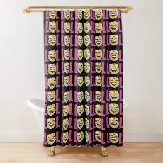 LOL Girls Emoji JoyPixels Funny Laugh Out Loud Shower Curtain