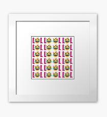 LOL Girls Emoji JoyPixels Funny Laugh Out Loud Framed Print