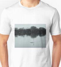 Swan lake in black and white Unisex T-Shirt