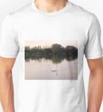 Swan on lakes in Somerset Unisex T-Shirt