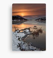 Winters Sunrise Canvas Print