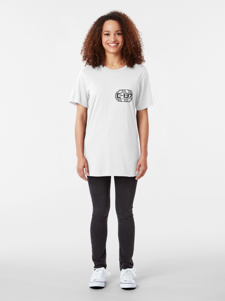 Alternate view of Geometry Planet Earth C-137 Dimension Slim Fit T-Shirt