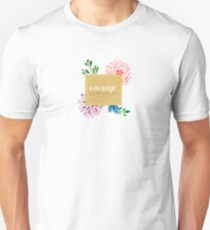 courage dear heart c.s. lewis (background colour can be changed) Unisex T-Shirt
