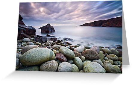Pebble Beach at Sunset by GaryMcParland