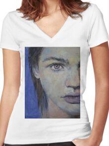 Violet Women's Fitted V-Neck T-Shirt