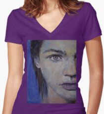 Violet Women's Fitted V-Neck T-Shirt