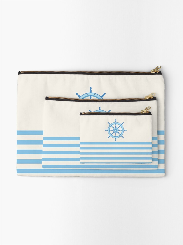 Alternate view of AFE Baby Blue Helm Wheel Zipper Pouch