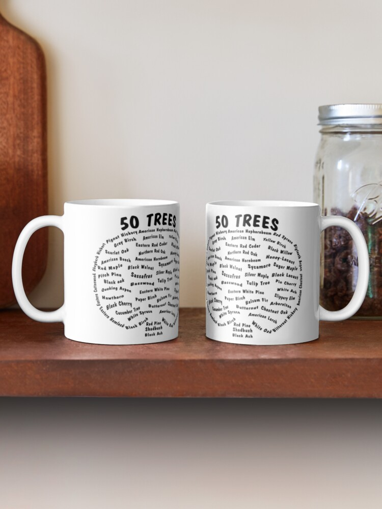 Alternate view of 50 Trees Arbor Day Arborist Plant Tree Forest Gift. Mug