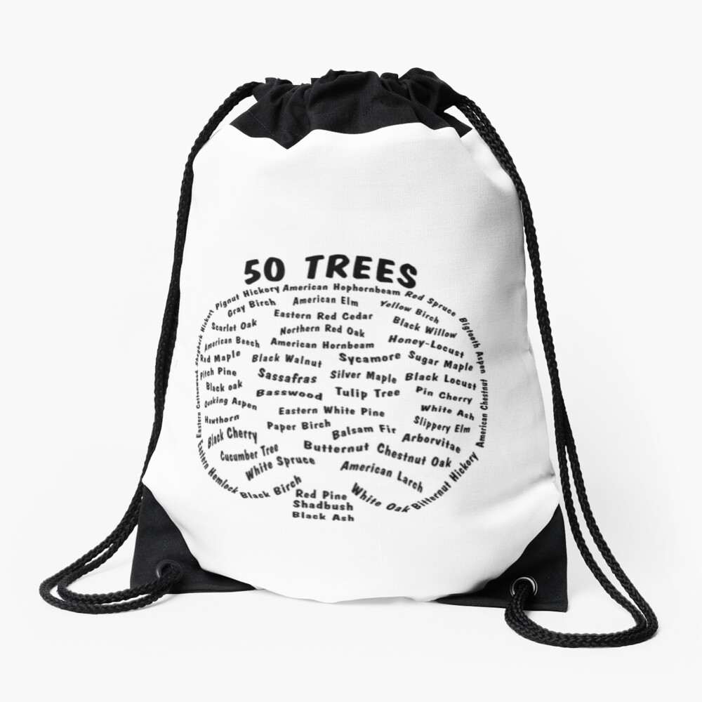 50 Trees Arbor Day Arborist Plant Tree Forest Gift. Drawstring Bag