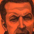 Eric Clapton celebrity portrait by Margaret Sanderson