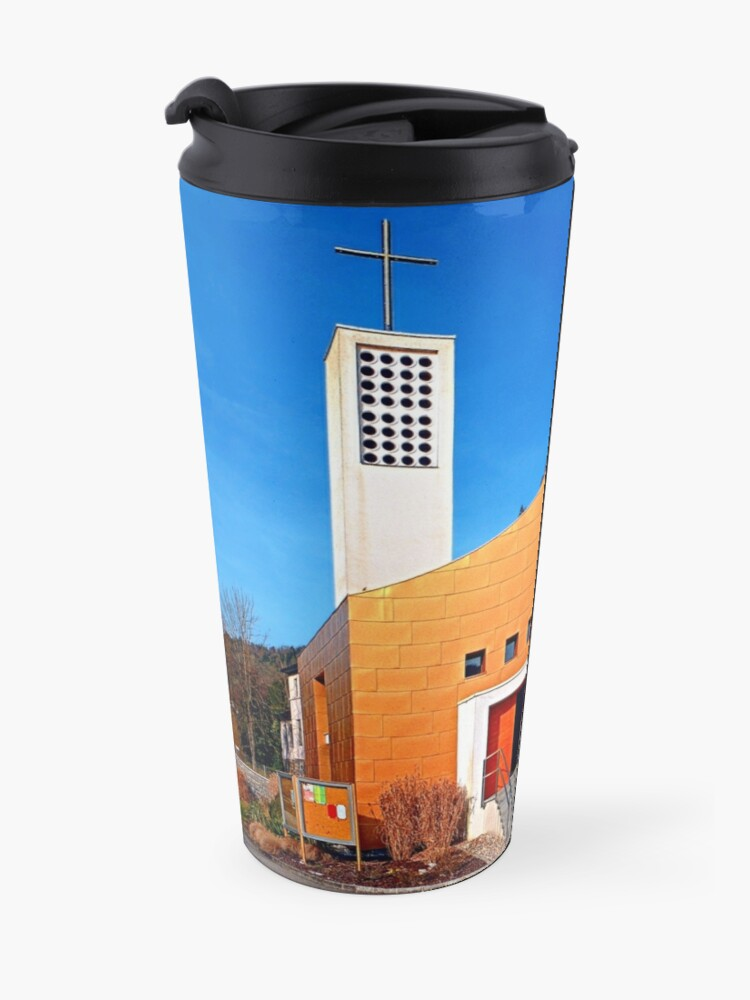 Alternate view of The village church of Obermühl 1 | architectural photography Travel Mug