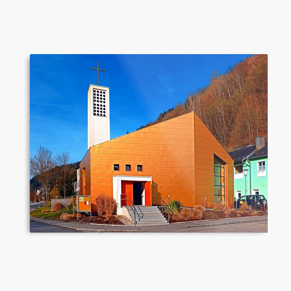The village church of Obermühl 1 | architectural photography Metal Print